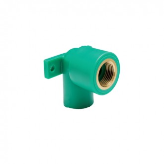ELBOW FEMALE THREADED WITH BRACKET PN 25